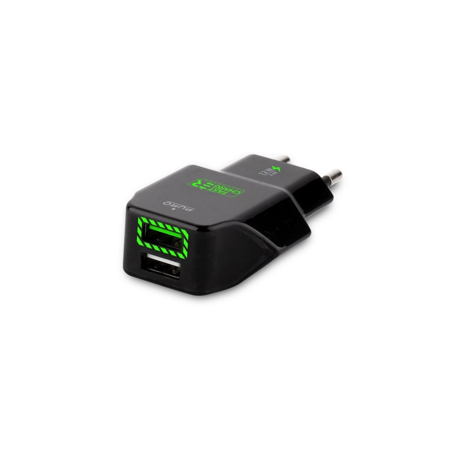 Caricabatterie da viaggio con 2 porte USB - Fast CHARGER-0