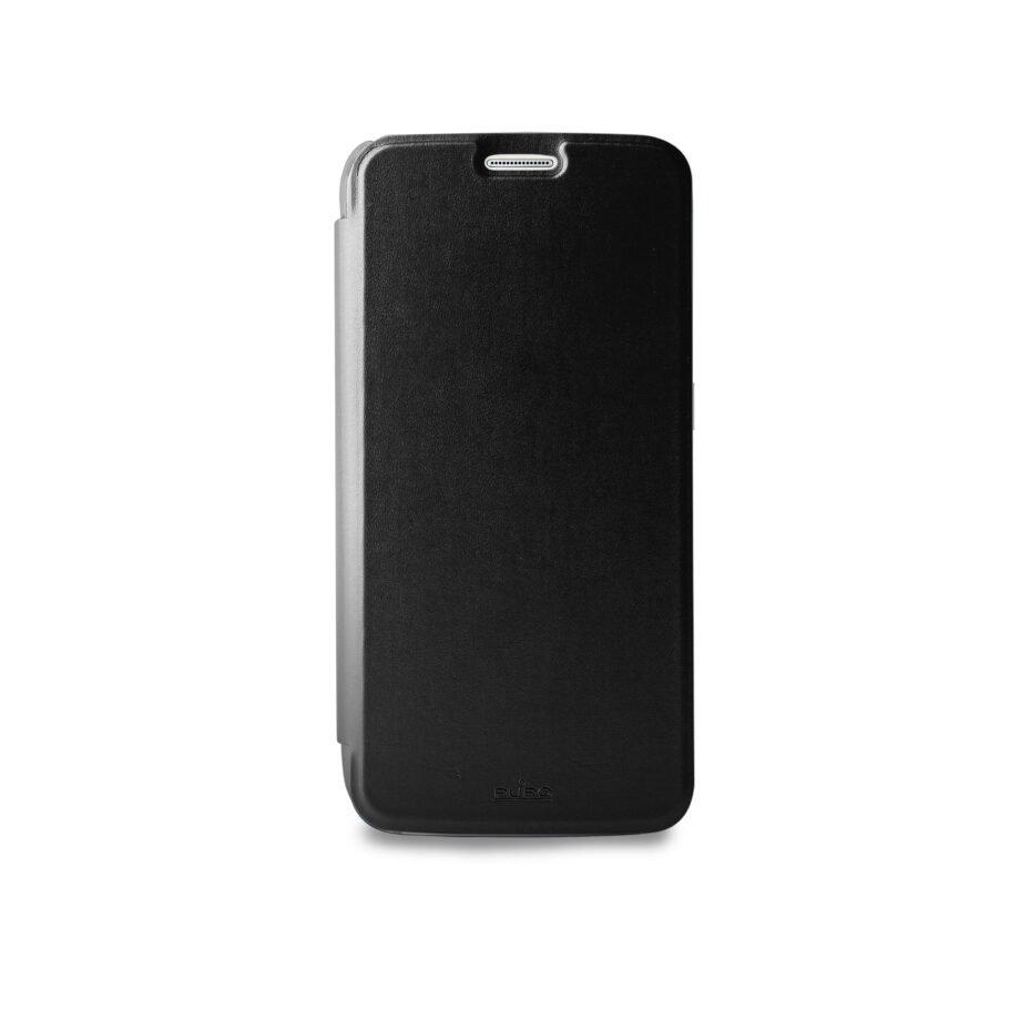 Custodia Booklet Crystal per Samsung Galaxy S7- PuroNero