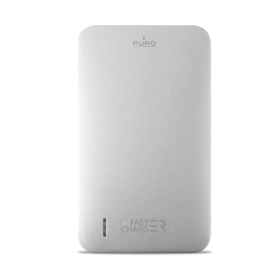 Power Bank da 8100 mAh con Micro USB intergrato   PUROArgento