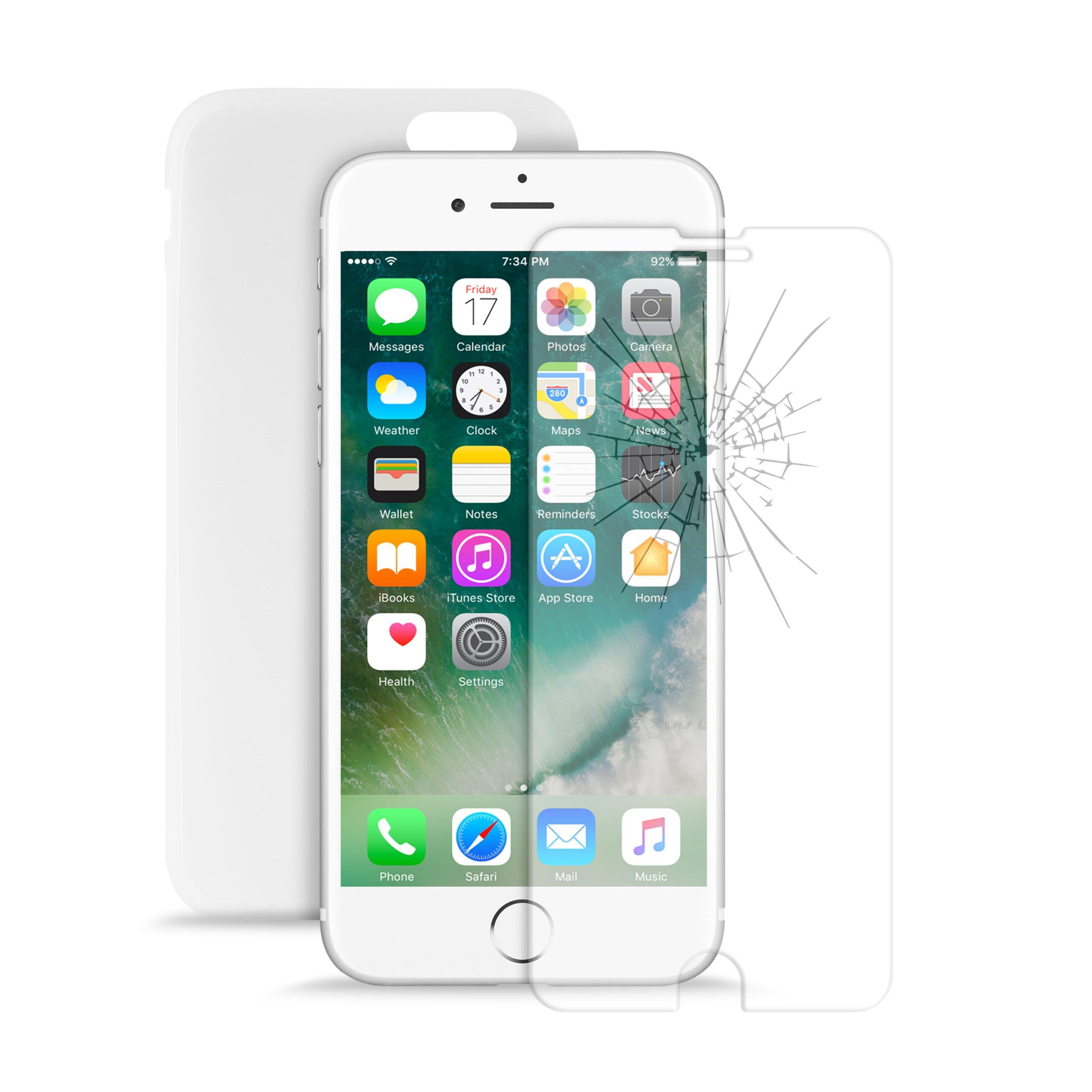Cover 0.3 + Vetro Temperato Standard per iPhone 7/8-0