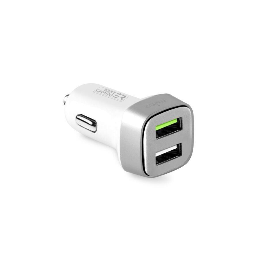 Mini carica batterie da auto 2 USB 2.4 A   Puro