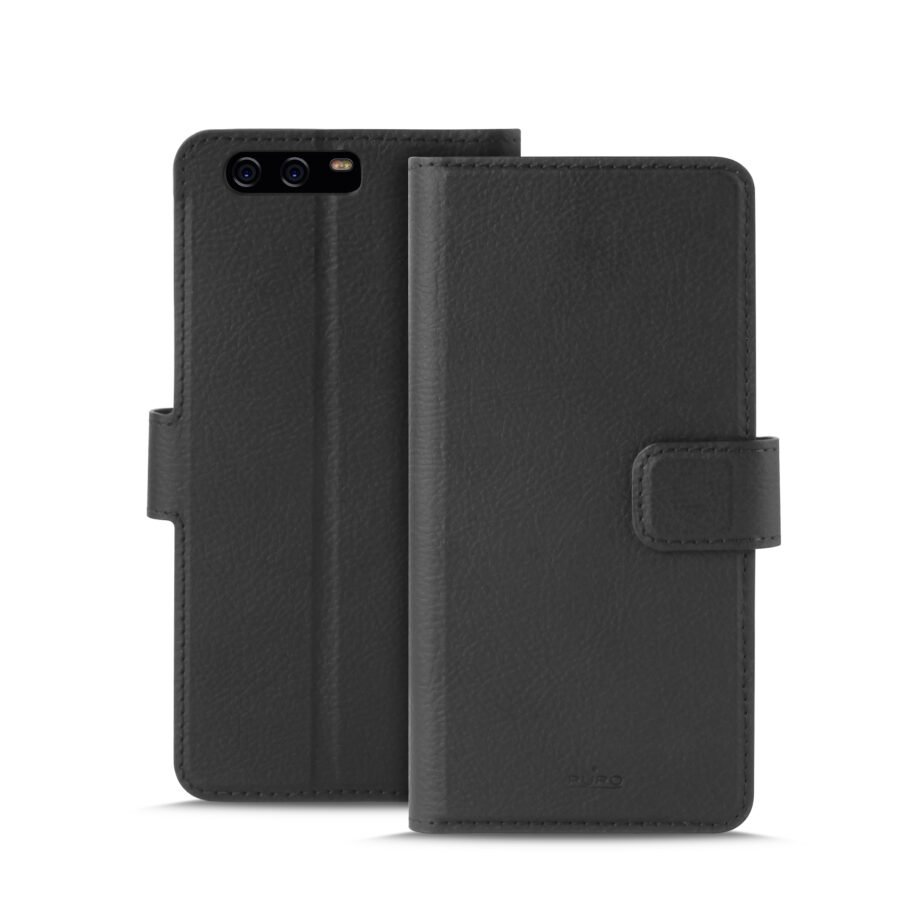 Custodia Wallet in Eco-Pelle Huawei P10 | PuroNero