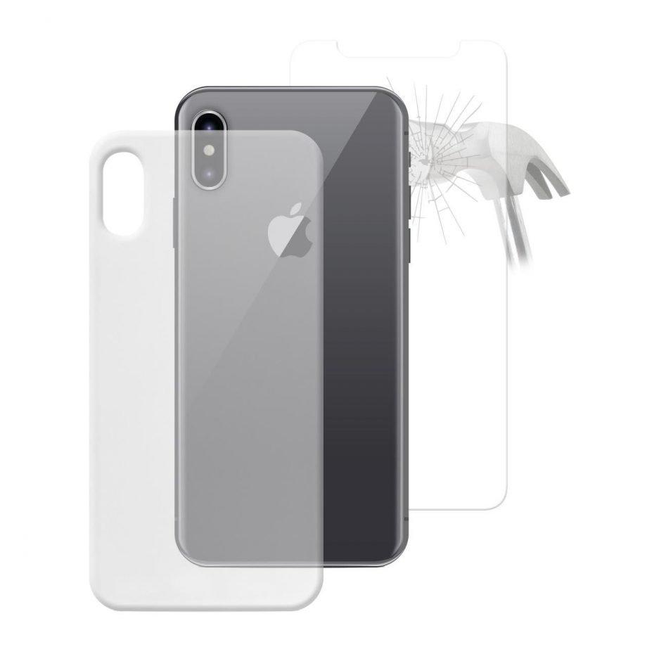 Cover 0.3 Nude + Vetro Temperato Standard per iPhone X/Xs-0