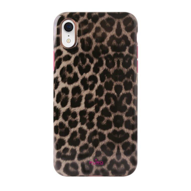 Cover Pink Leopard per iPhone Xr-0