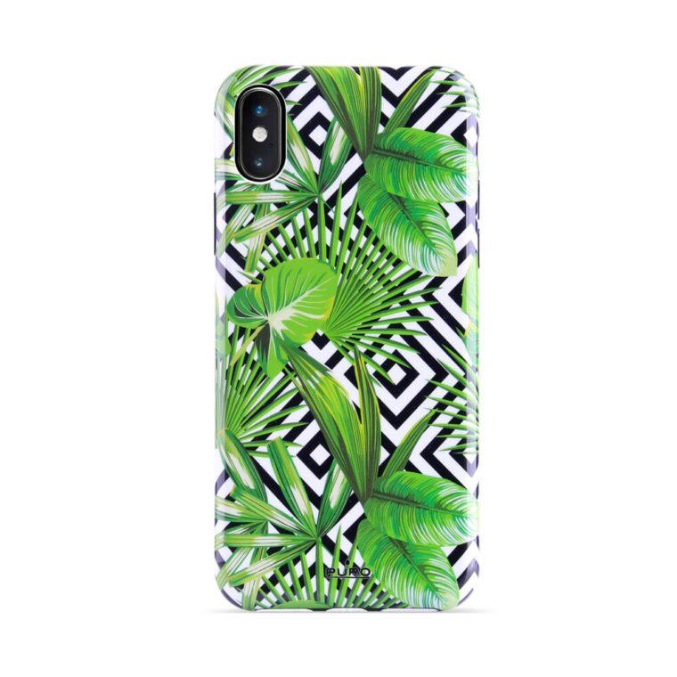 Cover Geometric Jungle per iPhone X/Xs-0