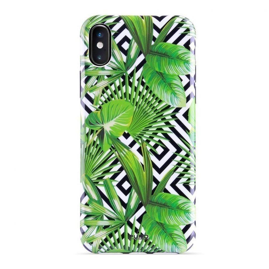 Cover Geometric Jungle per iPhone Xs Max-0
