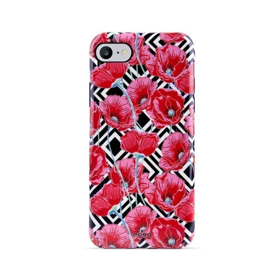 Cover Red Poppies per iPhone 6/6s/7/8-0