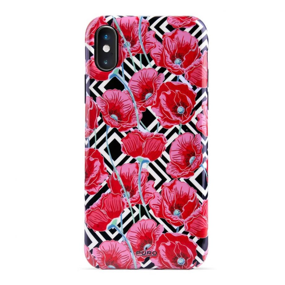 Cover Red Poppies per iPhone Xs Max-0