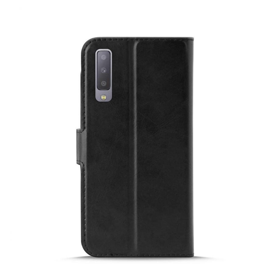 Custodia Wallet in Eco-Pelle per Samsung Galaxy A7 2018   PuroNero