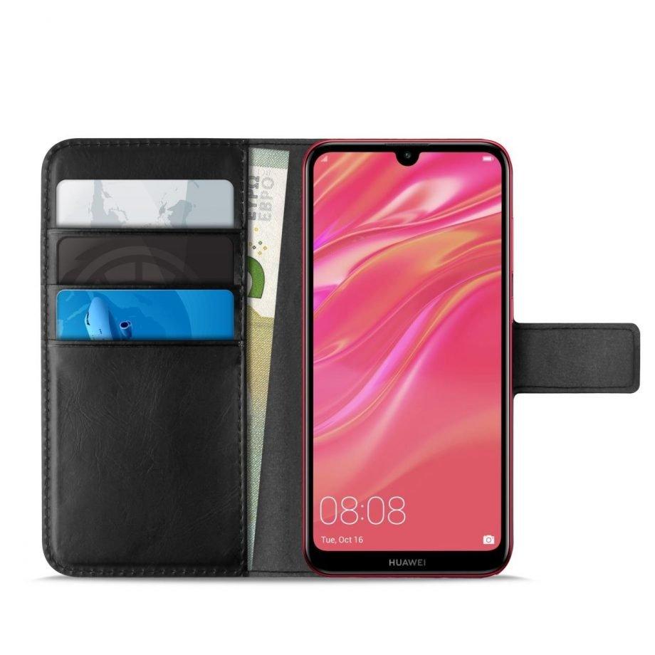 Custodia Wallet in Eco-Pelle per Huawei Y7 2019 | PuroNero