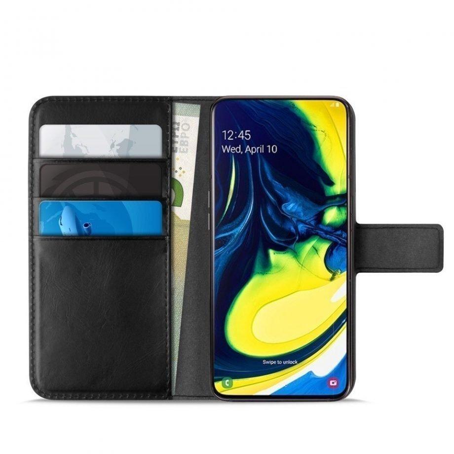 Custodia Wallet in Eco-Pelle per Samsung Galaxy A80 | PuroNero