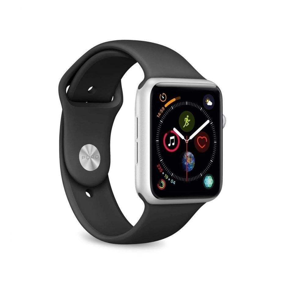 Cinturino Puro Icon Nero per Apple Watch Serie 1 38 mm