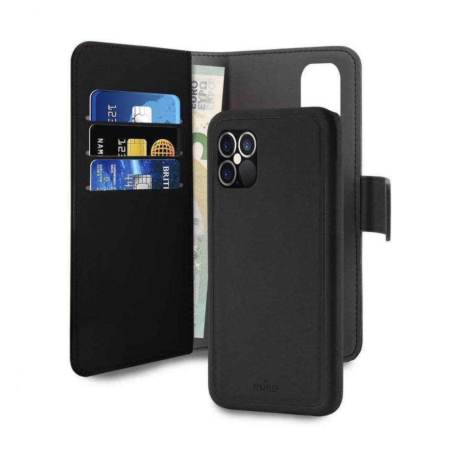 Custodia Wallet Detachable 2 in 1 per iPhone 12 e iPhone 12 Pro | PuroNero