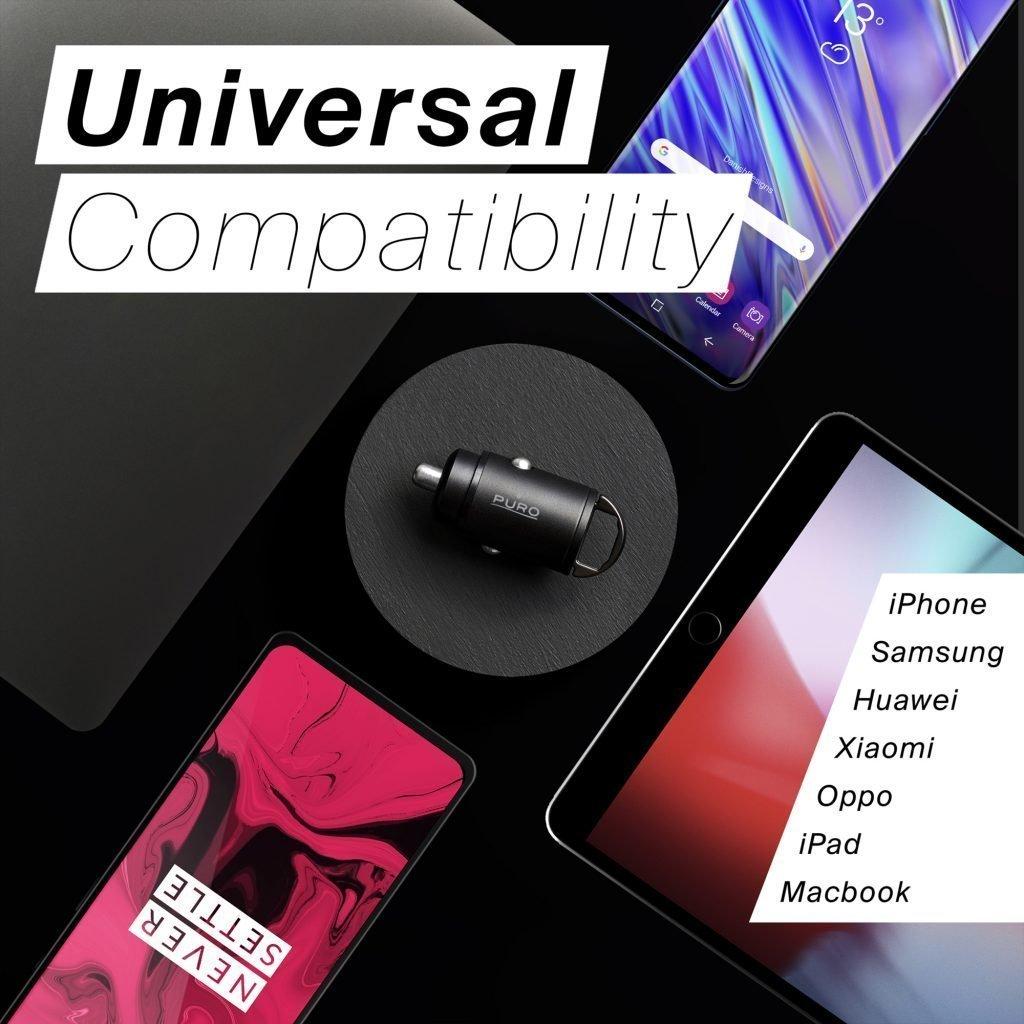 Compatibilità universale del mini carica batterie da auto compatto di Puro