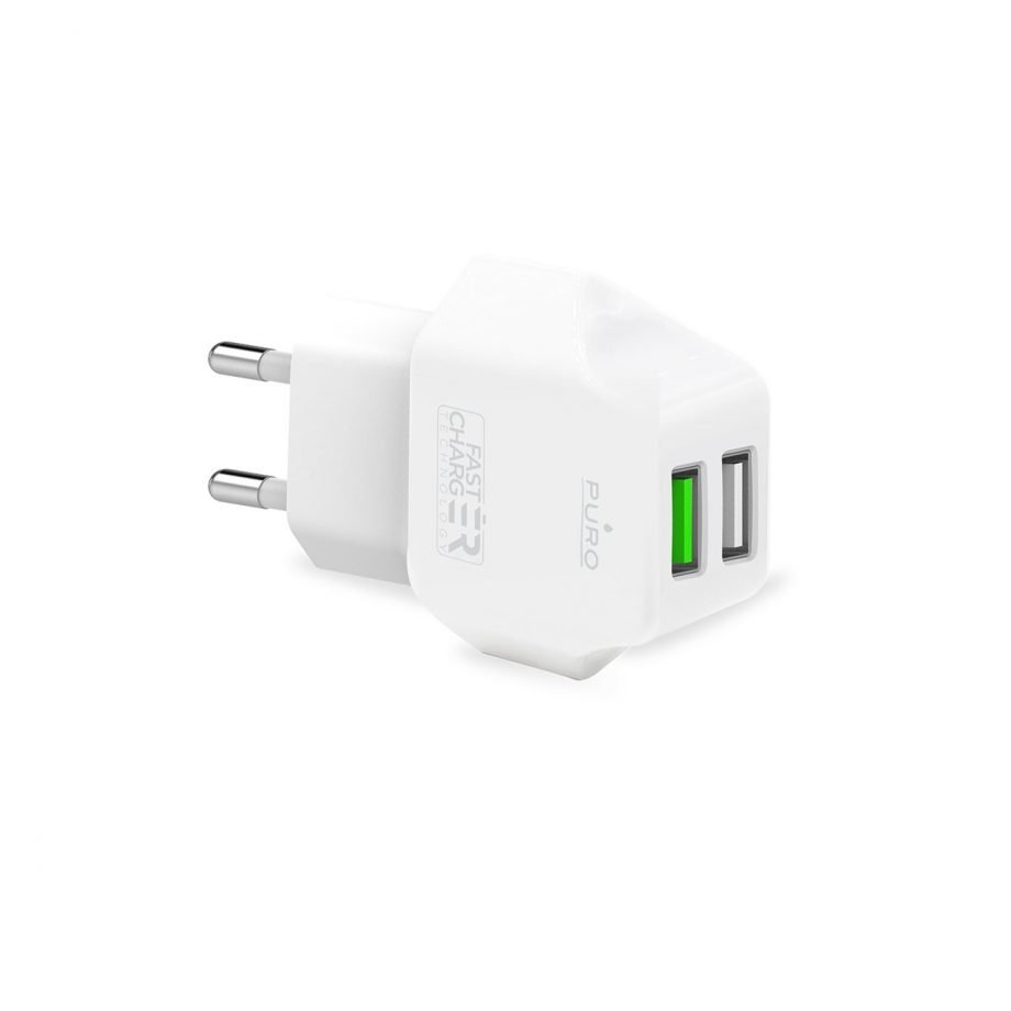 Wall Charger dual USB-A port 12W