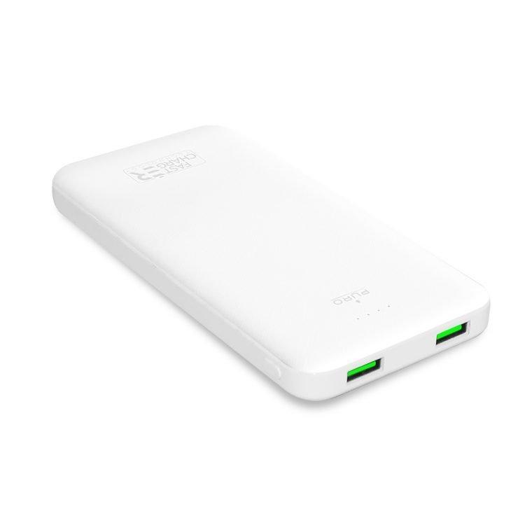Power Bank Puro White 10.000 mAh con 2 porte USB-A