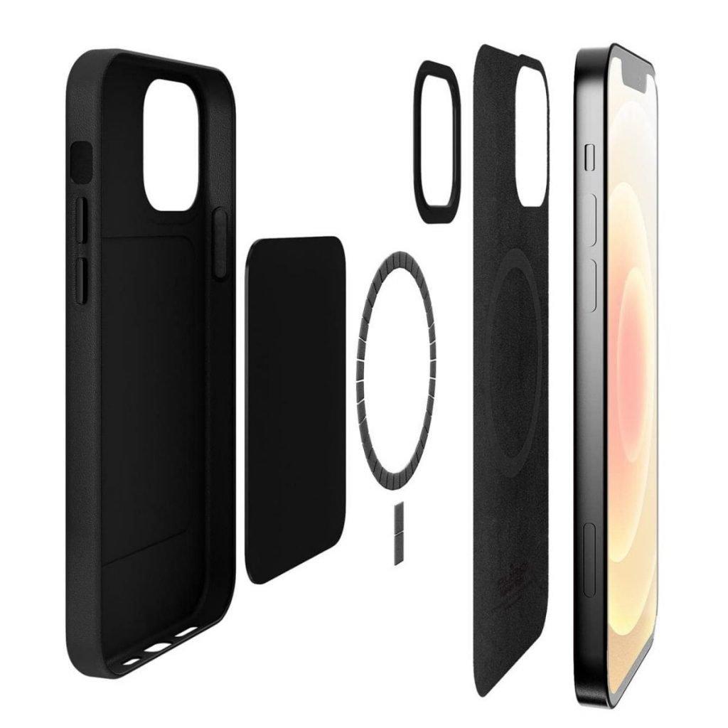Cover e custodie effetto pelle per iPhone 12 Pro Max e compatibile con Mag Safe