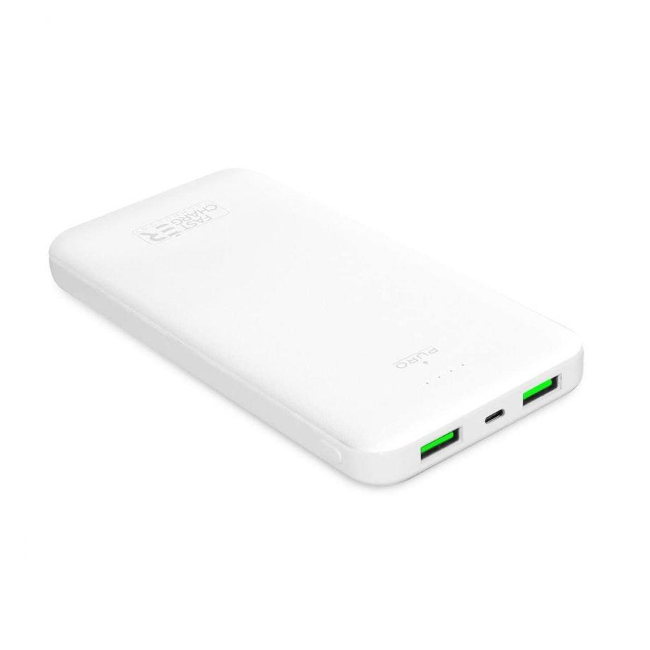 Power Bank Puro 10000mAh con due porte USB-A e una porta USB-C Fast Charge 12W