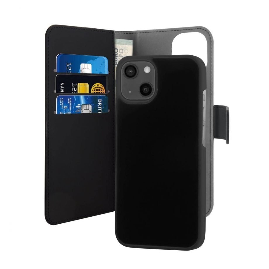 Custodia Wallet Detachable 2 in 1 per iPhone 13 Mini