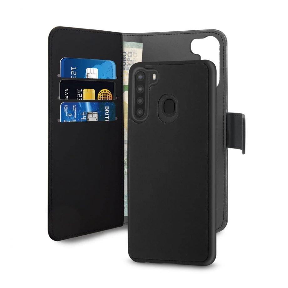 Custodia Wallet detachable per Samsung Galaxy A21