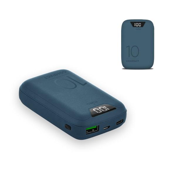 Power bank Compatto 10.000mAh Fast Charge - USB-A, uSB-C e Micro USB