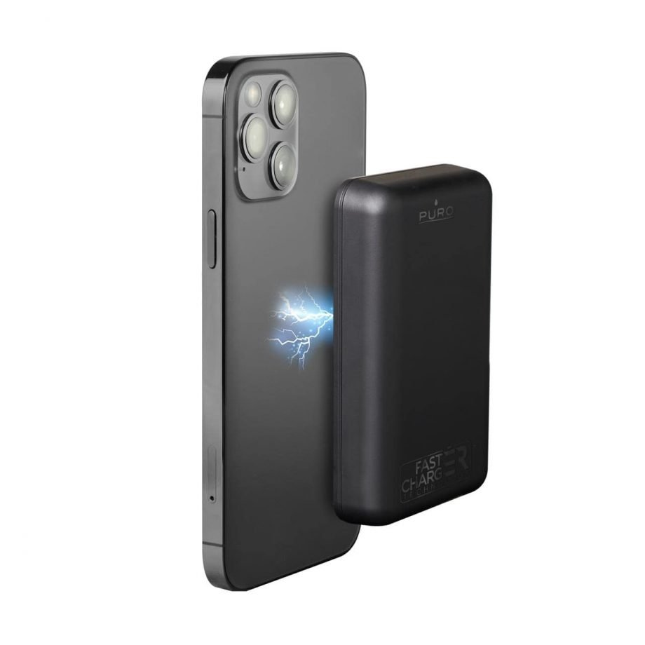 """Compact Universal Wireless Power Bank """"Power Mag"""" 5000 mAh ideal for iPhone 12 and iPhone 13"""